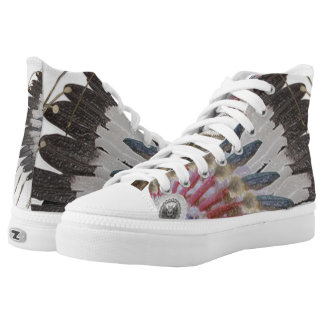 Warrior Headdress High Tops