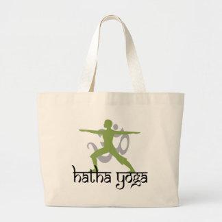 Warrior II Pose Hatha Yoga Large Tote Bag
