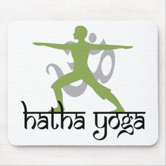 Warrior II Pose Hatha Yoga Mousepads
