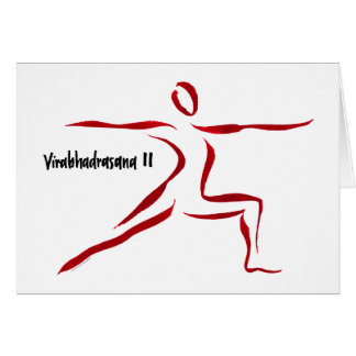 Warrior II Yogini Greeting Card