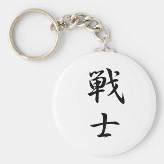 Warrior Kanji Basic Round Button Key Ring