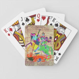 Warrior Kills a Dragon Playing Cards
