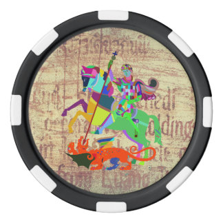 Warrior Kills a Dragon Poker Chips Set