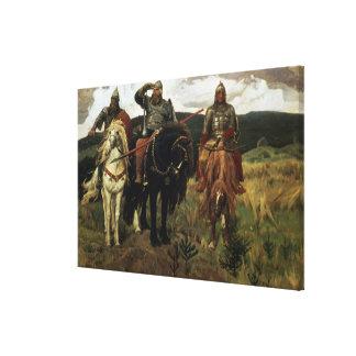 Warrior Knights, 1881-98 Canvas Print