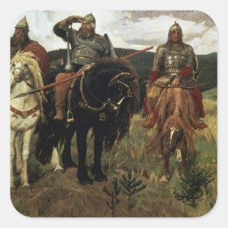 Warrior Knights, 1881-98 Square Sticker
