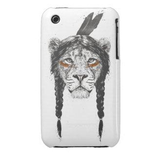 Warrior lion iPhone 3 Case-Mate cases