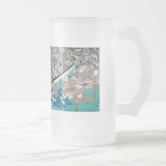 Warrior Minamoto Raiko and the Earth Spider Frosted Glass Beer Mug