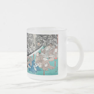 Warrior Minamoto Raiko and the Earth Spider Frosted Glass Coffee Mug