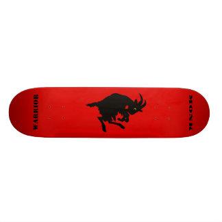 Warrior Monk Red Goat Skateboard Deck
