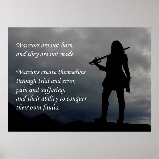 Warrior - Motivational Poster