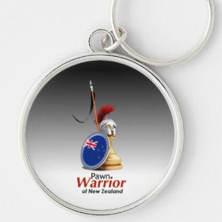 Warrior of New Zealand - Keychain (Circular)