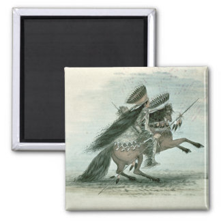 Warrior of the Crow Tribe (w/c on paper) Magnet