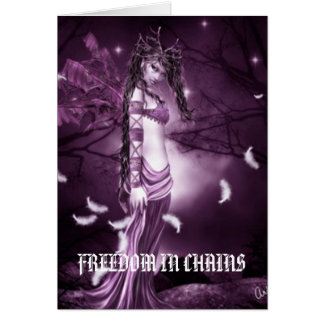 Warrior of the Goddess by  FREEDOM IN CHAINS Greeting Card