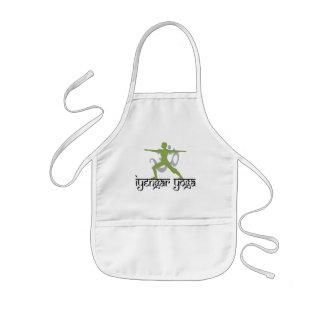 Warrior Pose Iyengar Yoga Gift Kids Apron