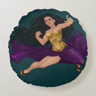 "Warrior Princess Lucy Round Throw Pillow (16"")"