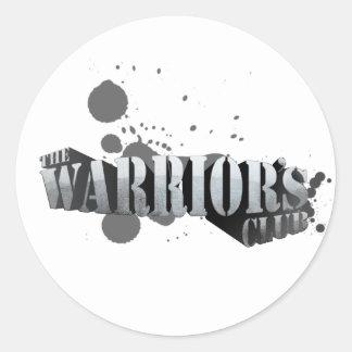 Warrior s Club Stickers Text Logo
