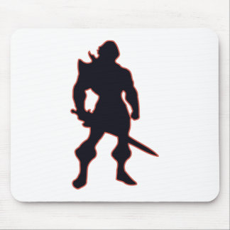 Warrior Silhouette Mouse Pads