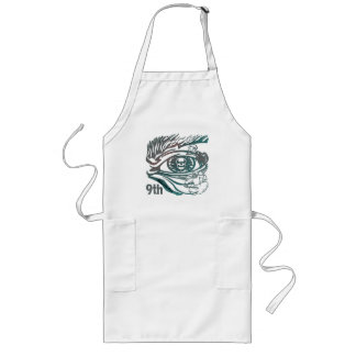 Warrior Skul 9th Birthday Gifts Long Apron