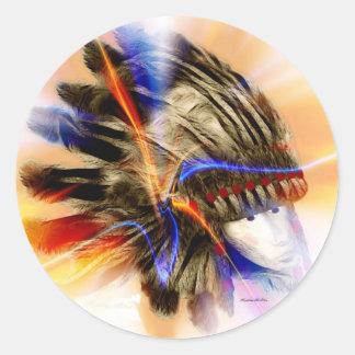 Warrior Round Sticker