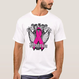 Warrior Vintage Wings - Breast Cancer v2 T-Shirt