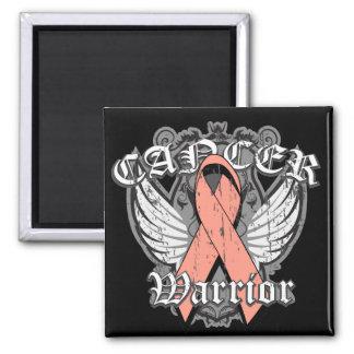 Warrior Vintage Wings - Endometrial Cancer Refrigerator Magnets