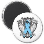 Warrior Vintage Wings - Prostate Cancer 6 Cm Round Magnet