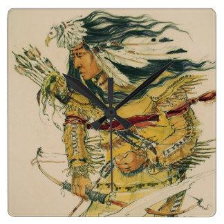 Warrior with Flaming Arrow Acrylic Wall Clock
