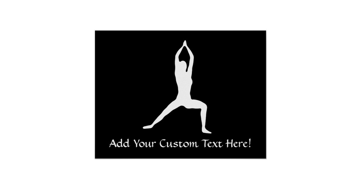 Warrior Yoga Pose Silhouette Poster