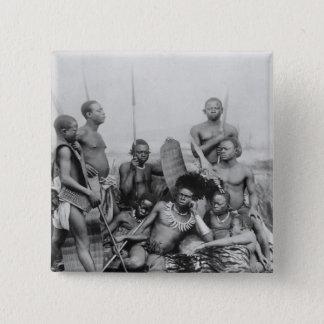 Warriors, Belgian Congo, 1894 15 Cm Square Badge