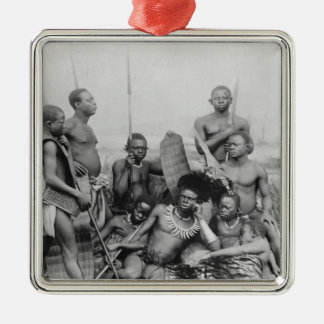Warriors, Belgian Congo, 1894 Christmas Ornament