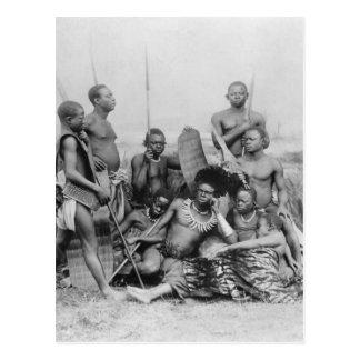Warriors, Belgian Congo, 1894 Postcard