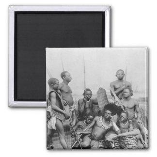 Warriors, Belgian Congo, 1894 Square Magnet
