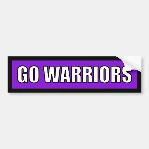 Warriors - Black Purple White Bumper Stickers