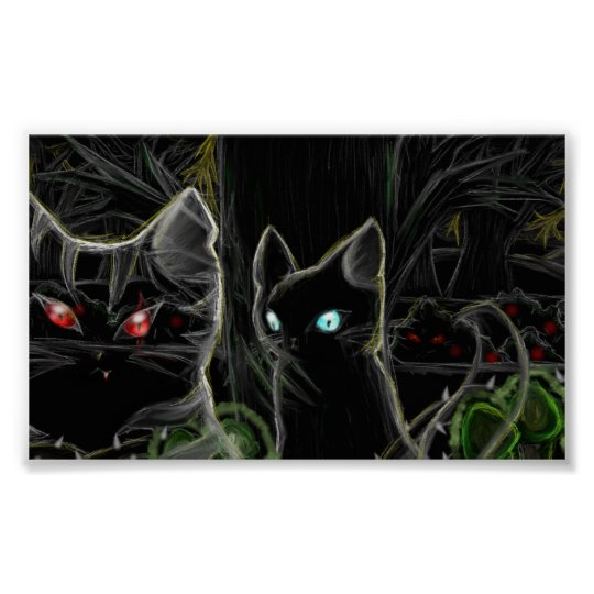 Warriors Hawfrost and Tigerstar- The dark forest Poster