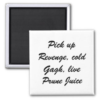 Warrior's meal shopping list square magnet
