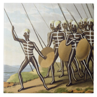 Warriors of New South Wales, engraved by Matthew D Tile