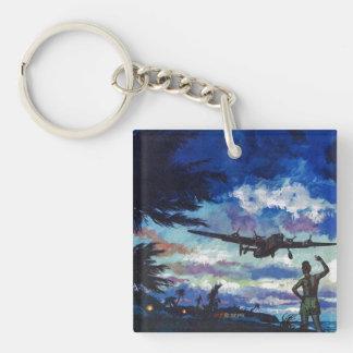 Warrior's Return Double-Sided Square Acrylic Key Ring