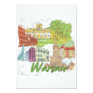 Warsaw 13 Cm X 18 Cm Invitation Card