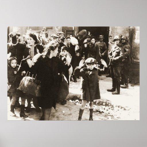 Warsaw Ghetto Uprising Photo from Jurgen Stroop Print