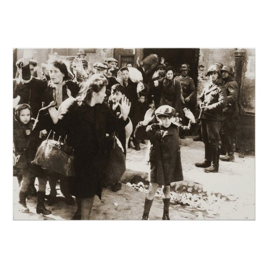Warsaw Ghetto Uprising Photo from Jurgen Stroop Poster