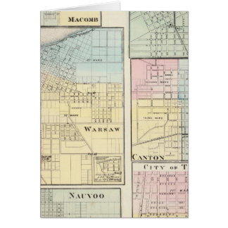 Warsaw, Macomb, Marshall, Canton Card