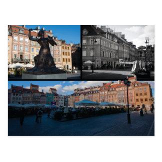 Warsaw Old Town Postcard