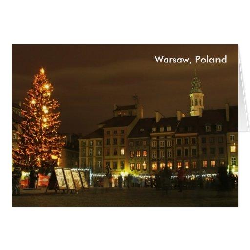 Warsaw, Poland Greeting Card