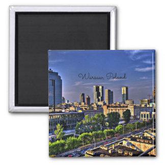 Warsaw, Poland Cityscape Square Magnet