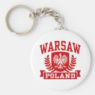 Warsaw Poland Key Ring