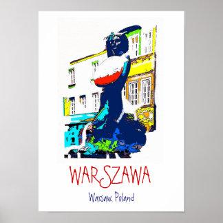 Warsaw Poland poster art