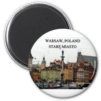 WARSAW POLAND STARE MIASTO OLD TOWN MAGNET