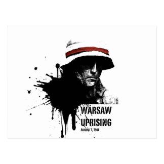 warsaw uprising postcard