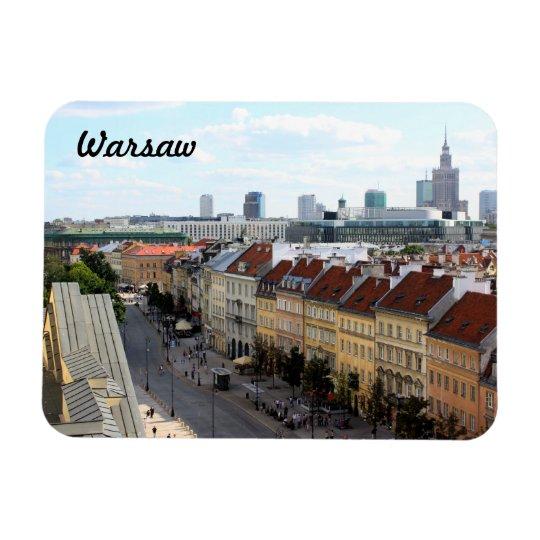 Warsaw View Rectangular Photo Magnet