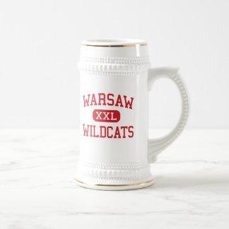 Warsaw - Wildcats - High School - Warsaw Illinois 18 Oz Beer Stein